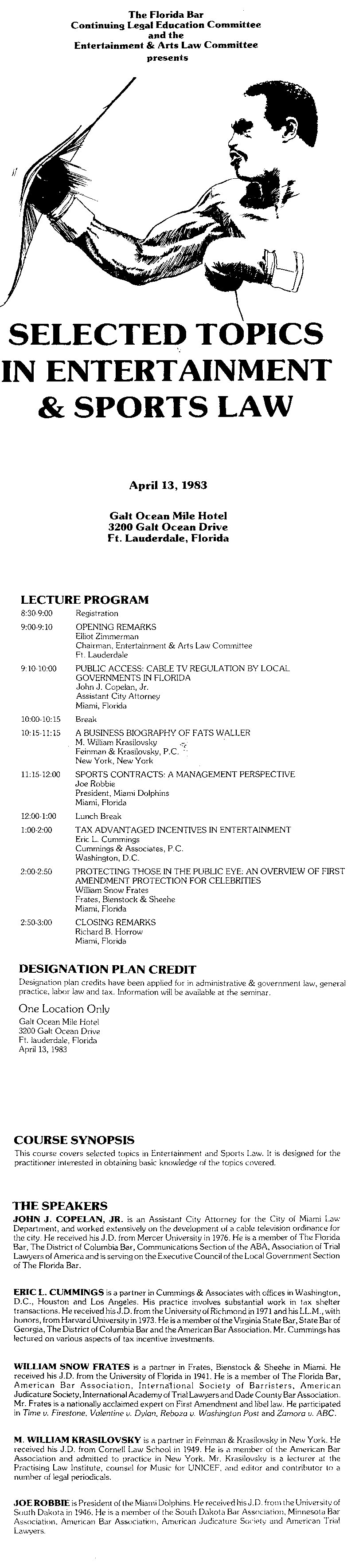1983-4-13_CLE_1st_EASL_Seminar