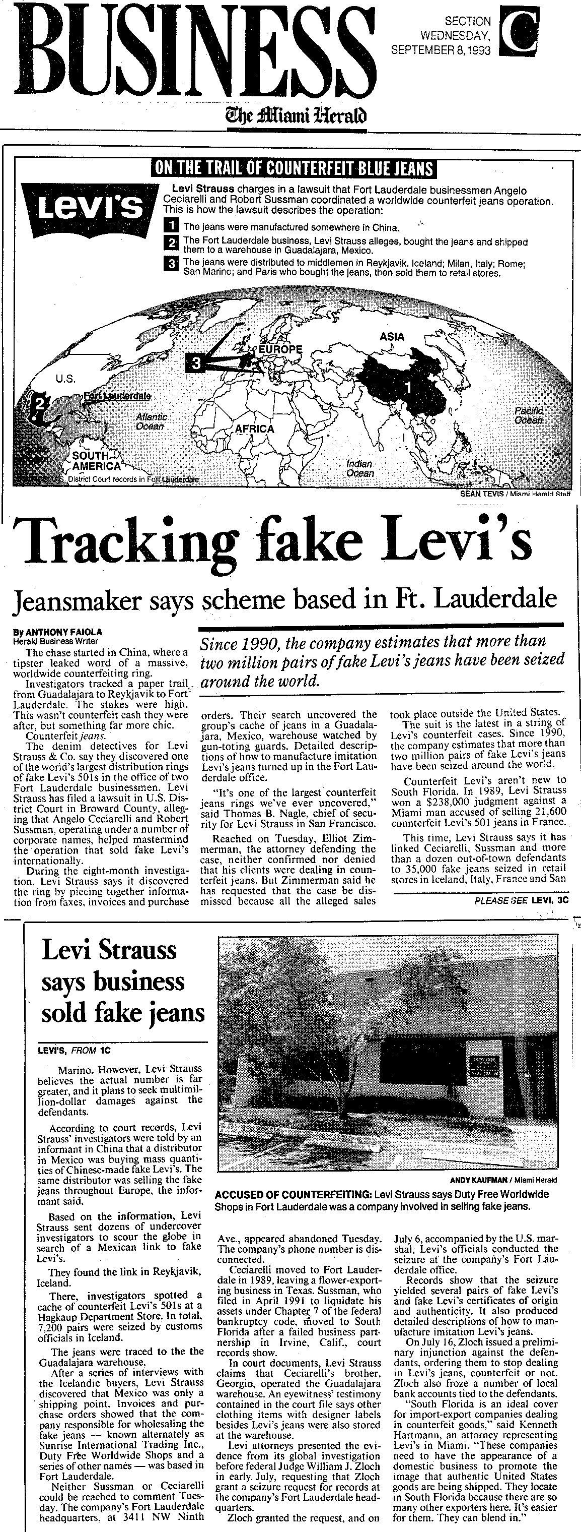1993-9-8_News_Levi_Strauss_v._Ceciarelli